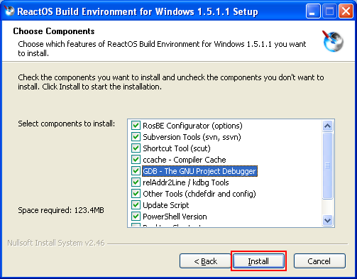 Setting up ReactOS Build Environment by downloading and