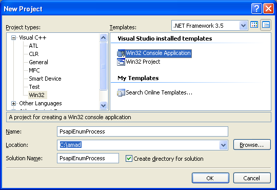 Win32 on enumerating all processes program example