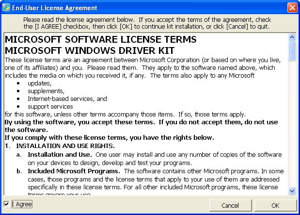 Installing the Windows Driver Kit (WDK) on Windows operating system